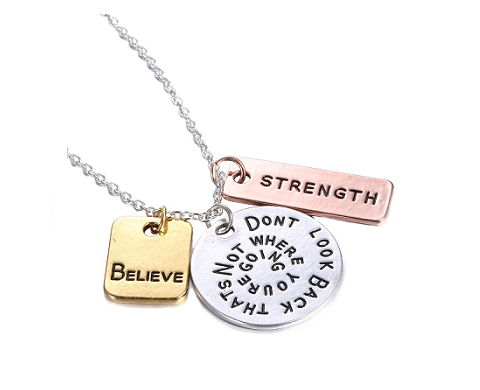 Believe and Strength Necklace