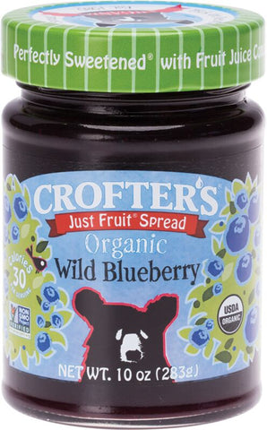 CROFTERS Just Fruit Spread Organic Wild Blueberry 283g