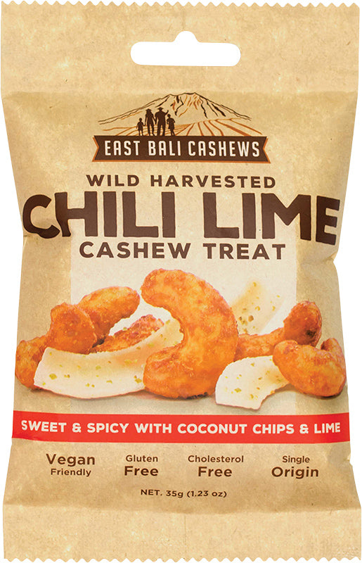 EAST BALI CASHEWS Chili Lime 35g