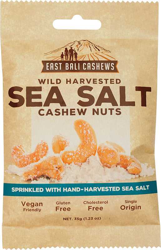 EAST BALI CASHEWS Sea Salt 35g