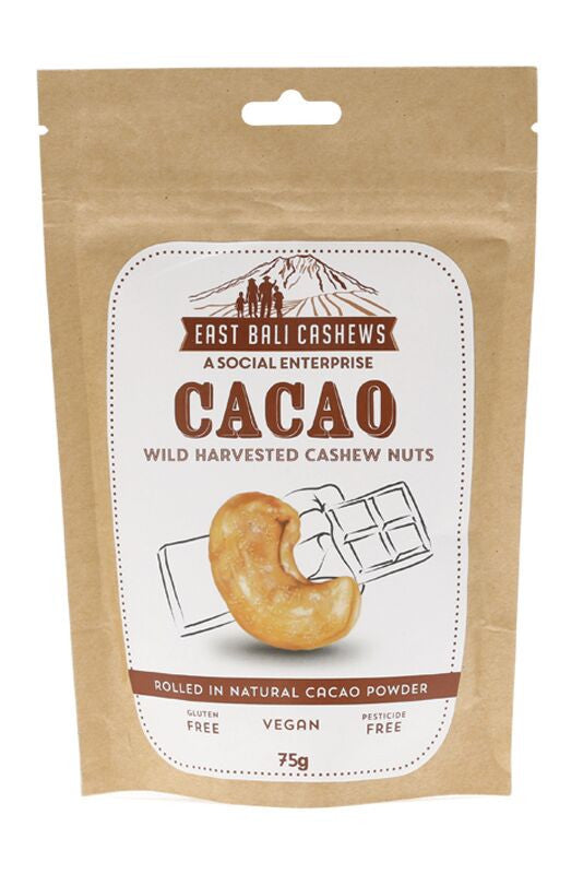 EAST BALI CASHEWS Cashew Nuts Cacao 75g