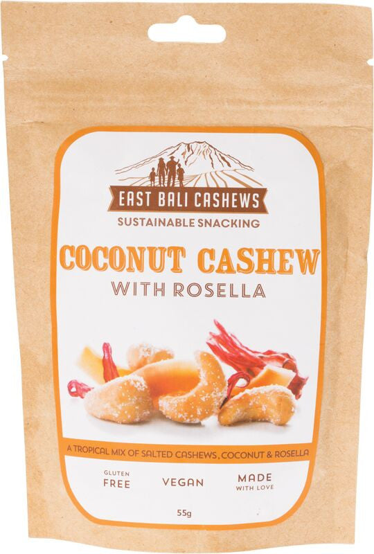 EAST BALI CASHEWS Coconut Cashew with Rosella 55g