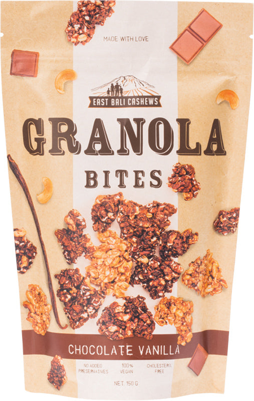 EAST BALI CASHEWS Granola Bites Chocolate Vanilla 150g