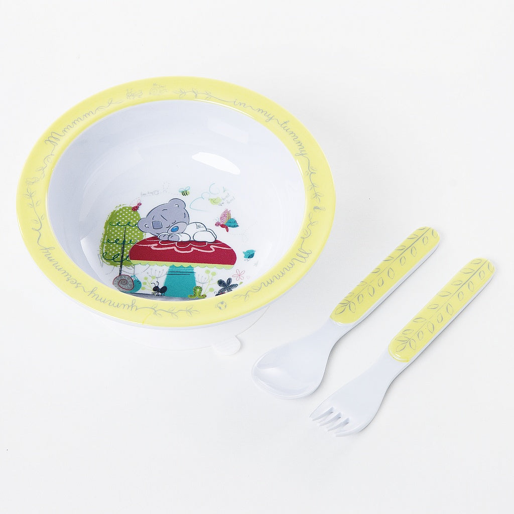 TTT BOWL SPOON AND FORK SET IN GIFT BOX