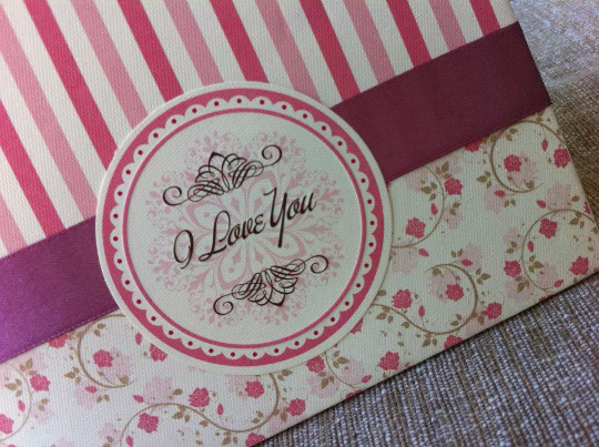 Tiskanice Hardcover Greetings Card - I Love You