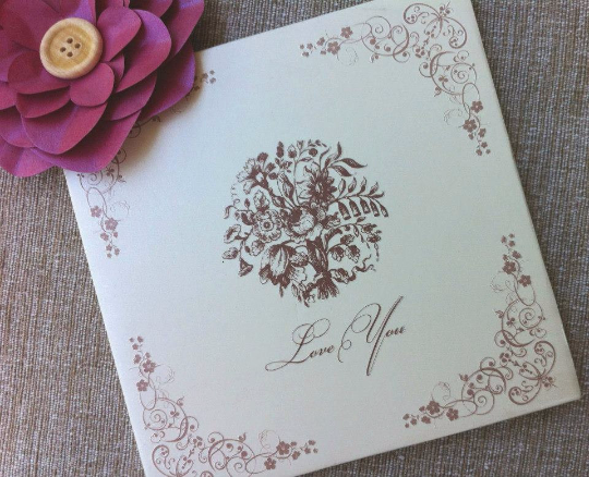 Tiskanice Hardcover Greetings Card - Love You