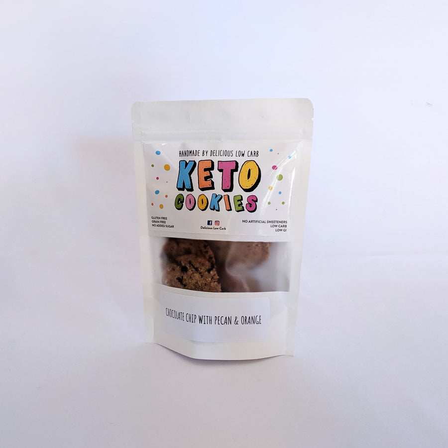 Keto Cookies Chocolate Chip Orange Pecan 100gr