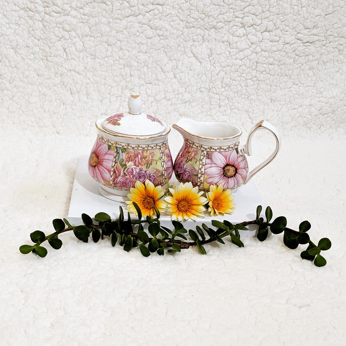Florenzia sugar bowl and creamer set