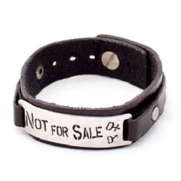 Not For Sale Leather Wristband