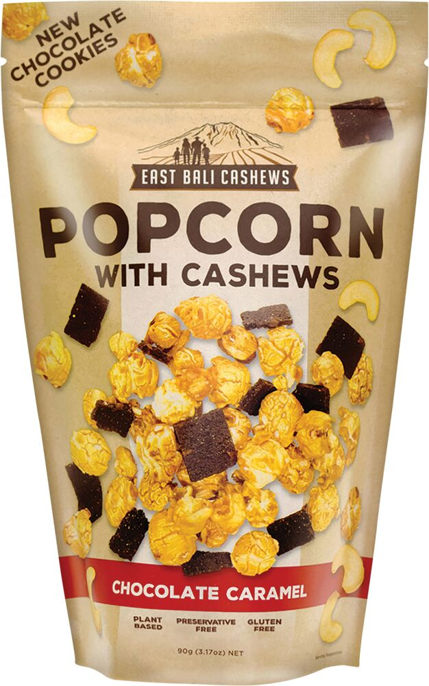 EAST BALI CASHEWS Chocolate Caramel Popcorn - 90 gr
