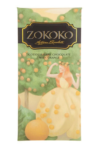 Zokoko Goddess Dark Chocolate with Orange 65g