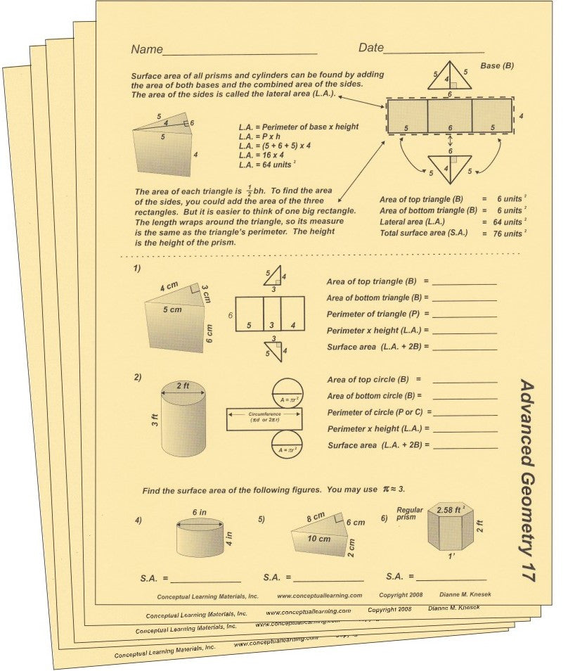 Advanced Geometry - Conceptual Learning Materials