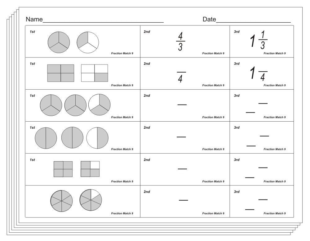 Fraction Match Blackline or PDF - Conceptual Learning ...