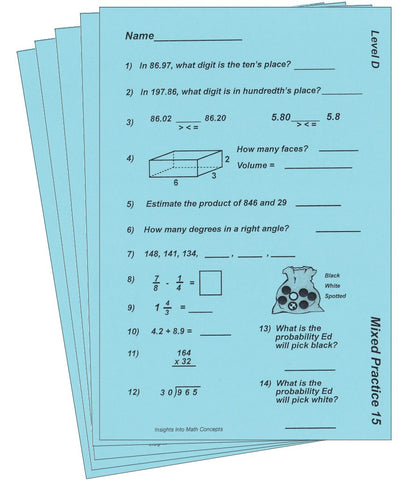 Fourth Grade – Conceptual Learning Materials