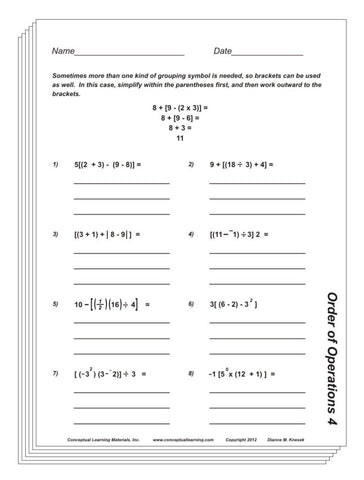Order of Operations Blackline or PDF