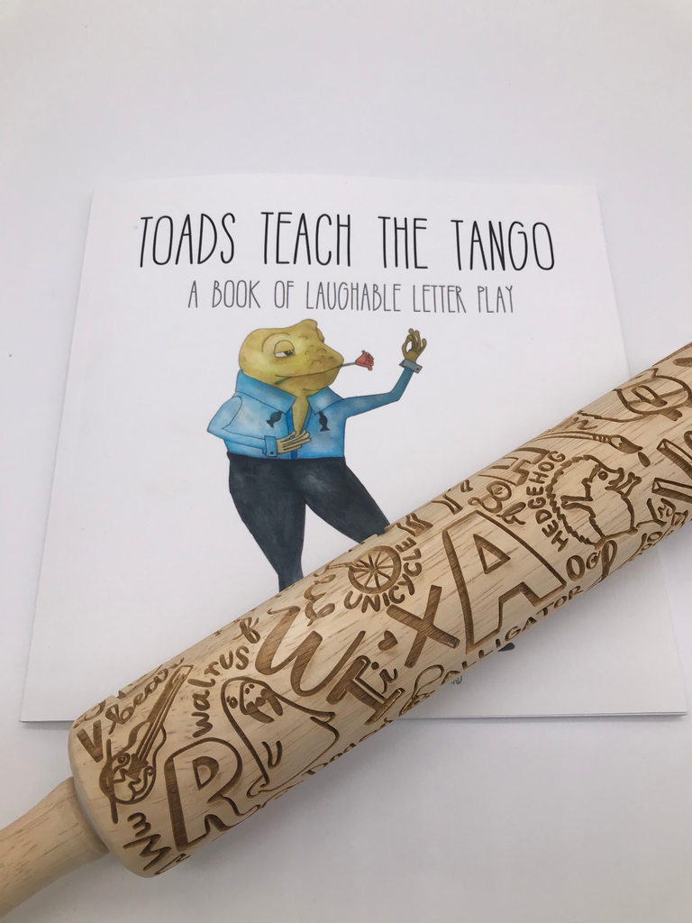 Toads Teach the The Tango Book + Rolling Pin
