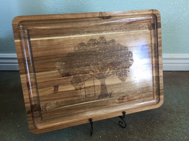 Large Acacia Wood Cutting Board
