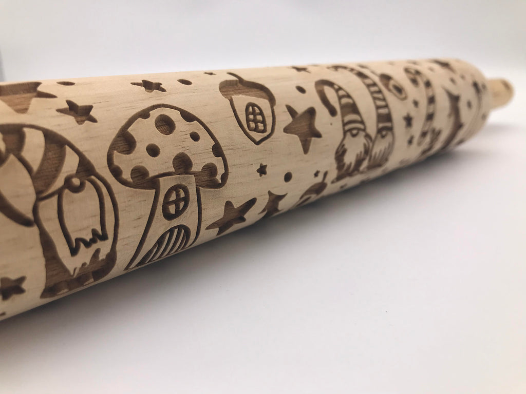 Holiday Gnomes Rolling Pin