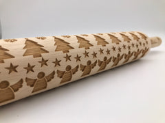 Quilted Christmas Rolling Pin
