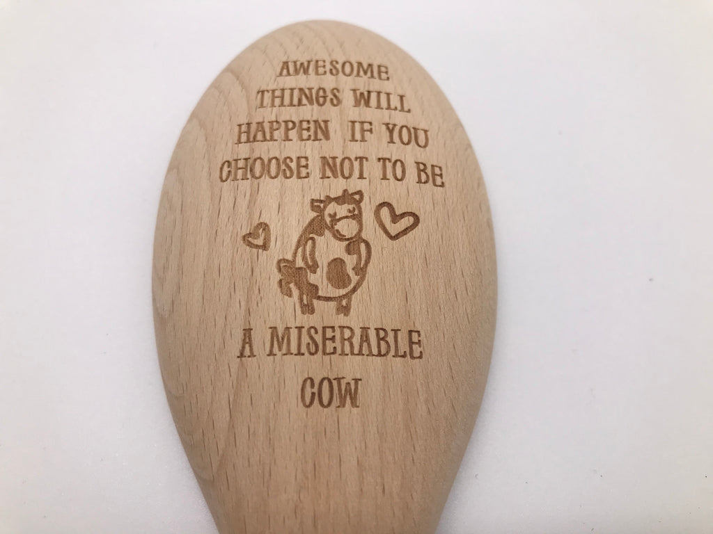 Wooden Spoon: Awesome Things Will Happen if You Choose Not To Be A Miserable Cow