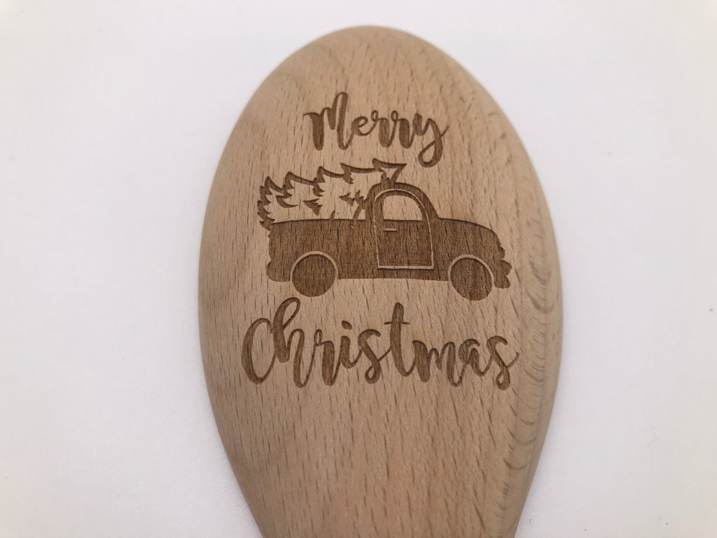 Wooden Spoon: Merry Christmas (with Christmas Truck)