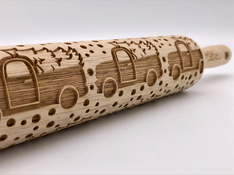 Christmas Truck Rolling Pin