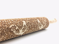 Floral Rooster Rolling Pin