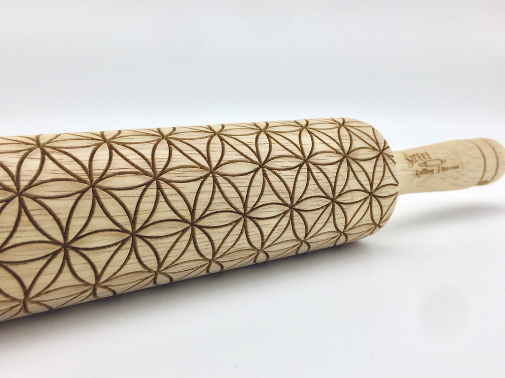 Flower of Life Rolling Pin