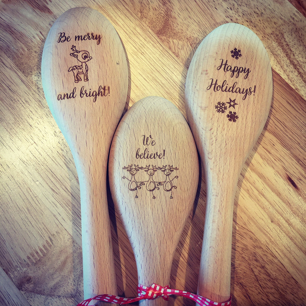 Wooden Spoon - BE MERRY AND BRIGHT