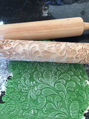 Floral Swirl Rolling Pin