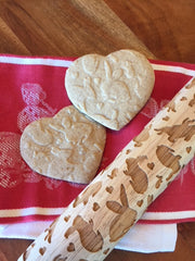 Rabbits with Hearts Rolling Pin