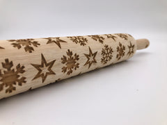 Snow Flakes Rolling Pin