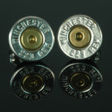 .223 Remington Bullet Earrings, Silver Plated with Brass Primers