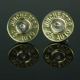 .45 Auto Bullet Earrings, Brass with Nickel Primers