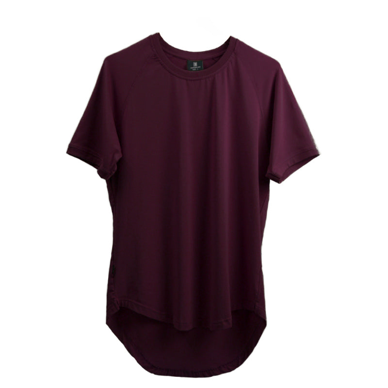 Curved Scoop Hem Tee Merlot