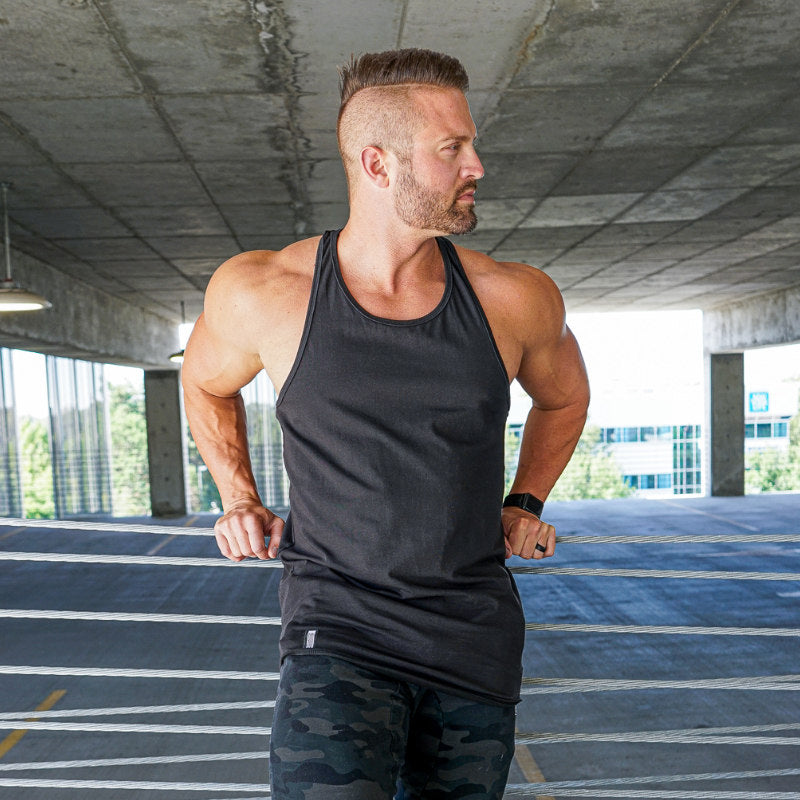 Curved Hem Stringer Black