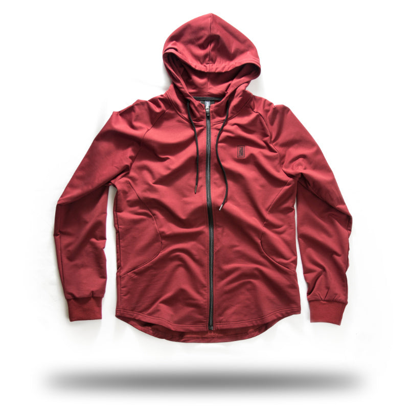 ZIP UP BURGUNDY