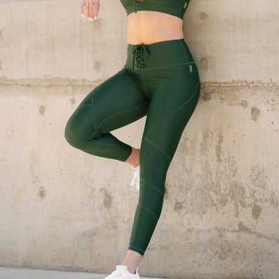 Cinched Leggings Forest Green