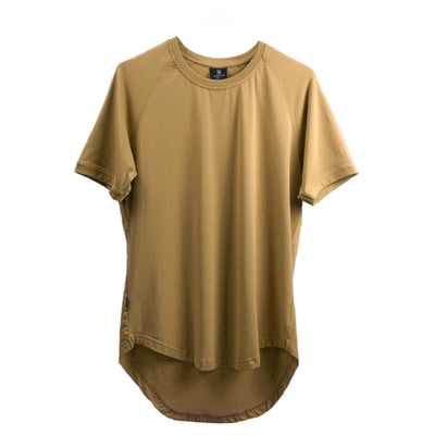 Curved Scoop Hem Tee Frosted Almond