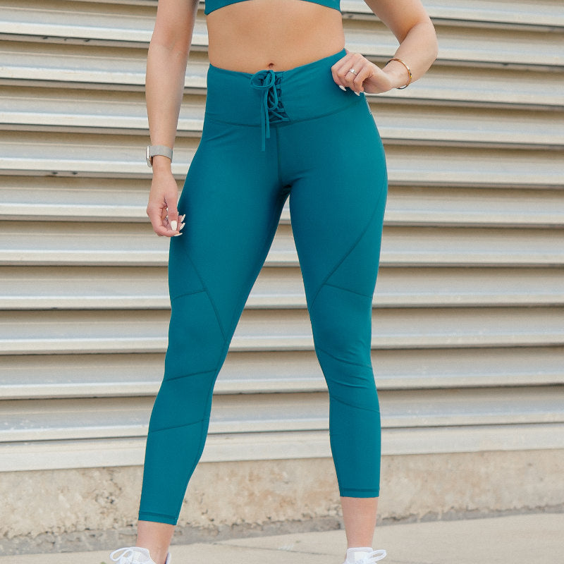 Cinched Leggings Sea Blue
