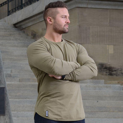 Long Sleeve Khaki Green