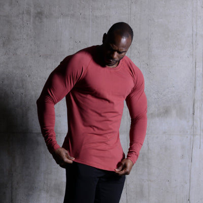 Scoop Long Sleeve Marsala