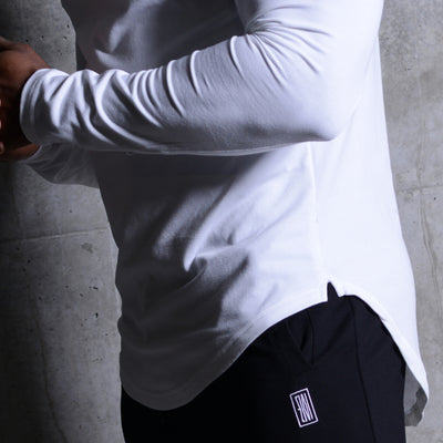 Scoop Long Sleeve White