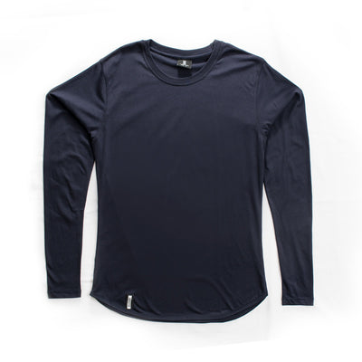 Curved Hem Long Sleeve Midnight Blue