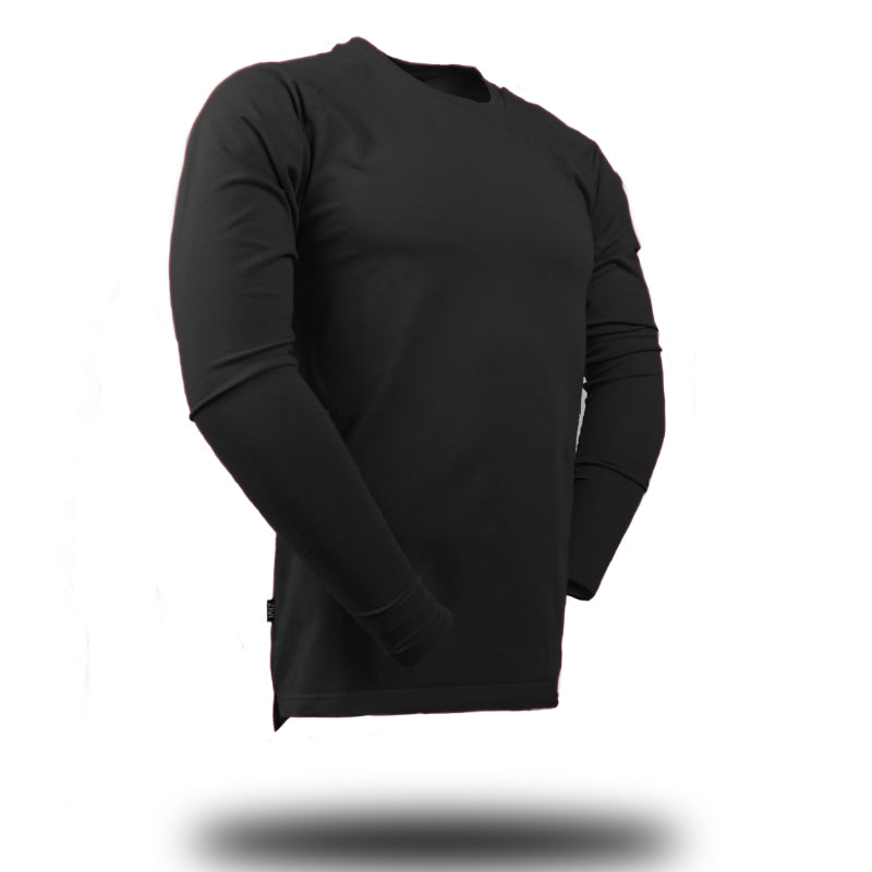 Straight Long Sleeve Black