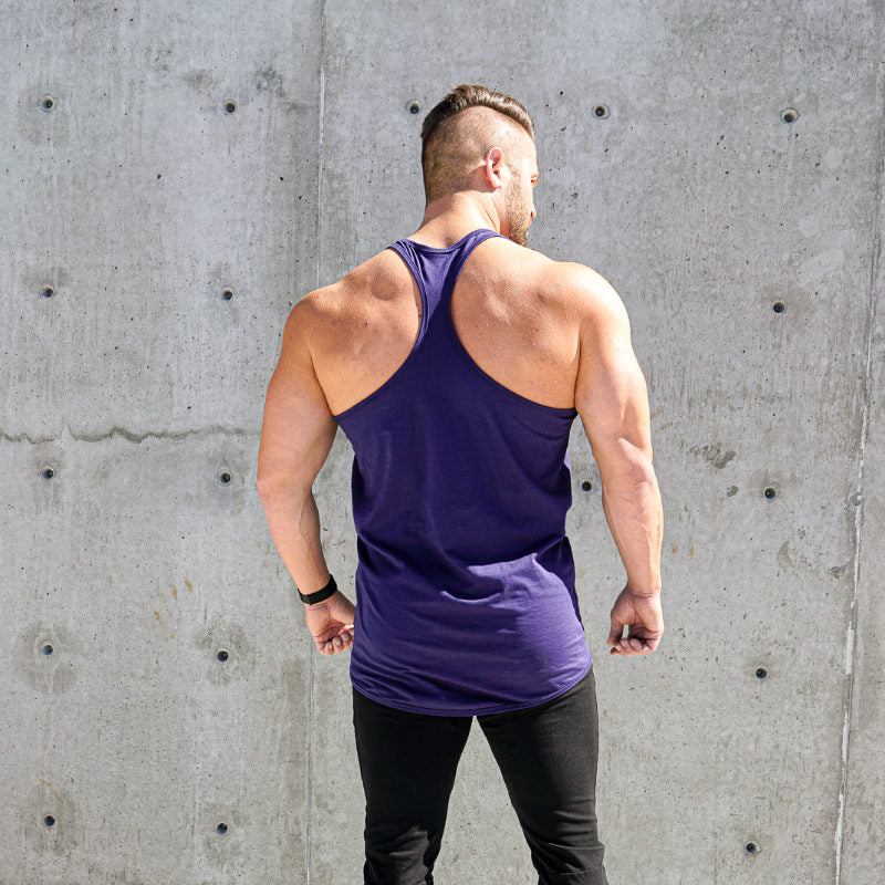 Curved Hem Stringer Midnight Blue