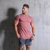 Curved Hem Tee Old Rose