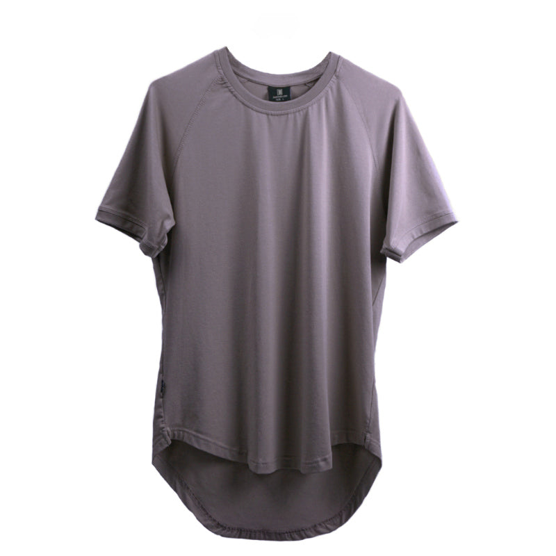 Curved Scoop Hem Tee Opal Gray