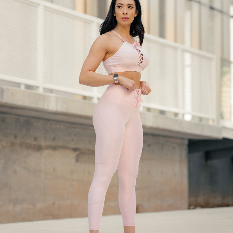 Cinched Leggings Pink Sand