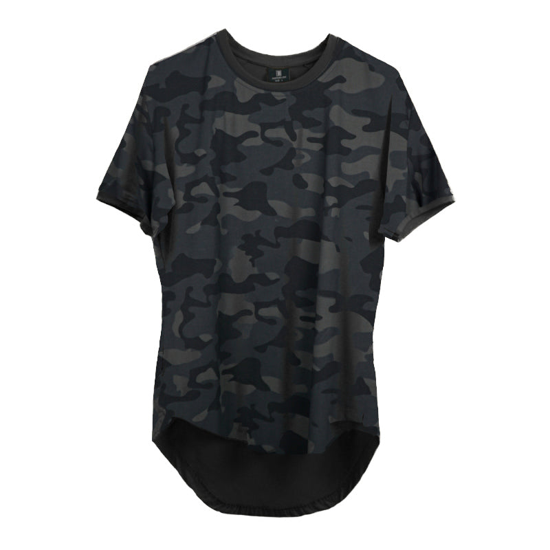 Curved Scoop Hem Tee Camo